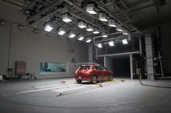 Nissan Leaf Being Tested in ACE's Climatic Wind Tunnel