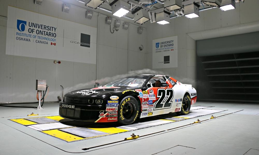 NASCAR Testing in Wind Tunnel