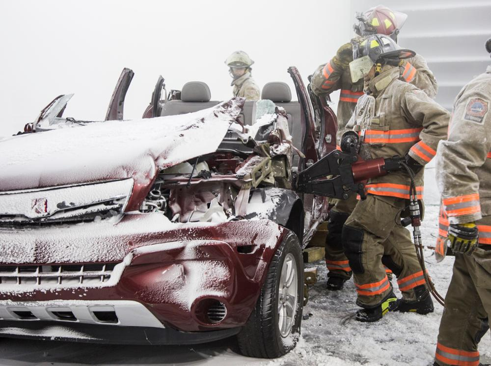 Auto Extrication Jaws of Steel in Blizzard Simulation