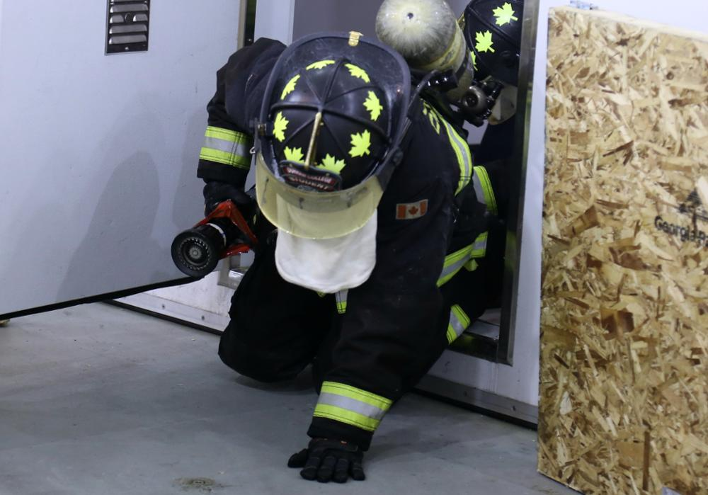 Firefighter Entering Extreme Heat