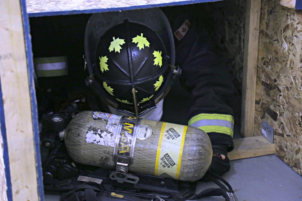 Firefighter in Hot Room