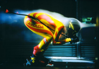 Skiing in Wind Tunnel