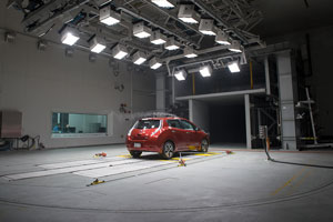 Nissan in Wind Tunnel