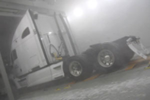 Large Semi in the Climatic Wind Tunnel