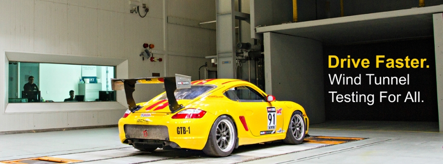 Cayman in Wind Tunnel