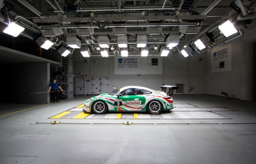 Race Car in Wind Tunnel