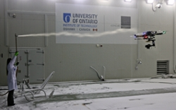 UAV / Drone Flying in a Frigid Climate Wind Tunnel