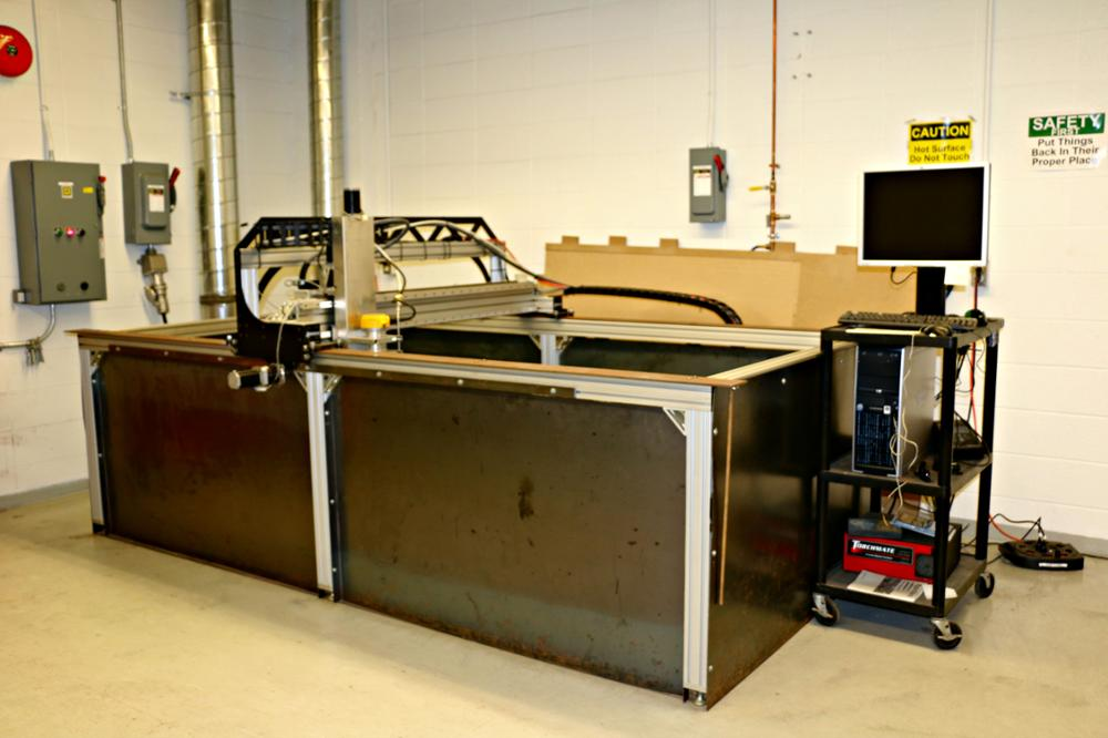 Router and Plasma Cutter in Machine Shop