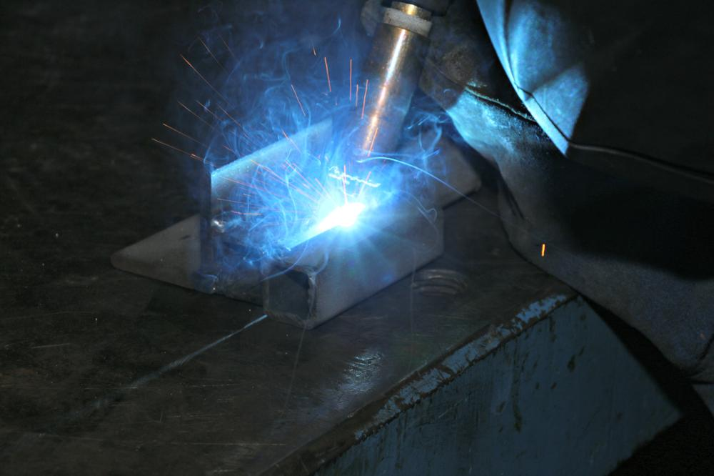 Welder in Machine Shop
