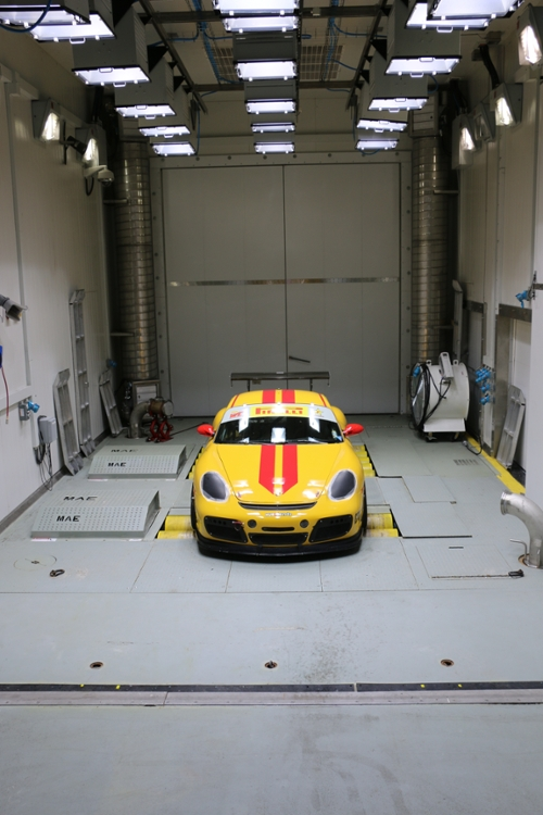 Car on Chassis Dynamometer