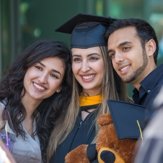 2017 graduate celebrates with family and friends