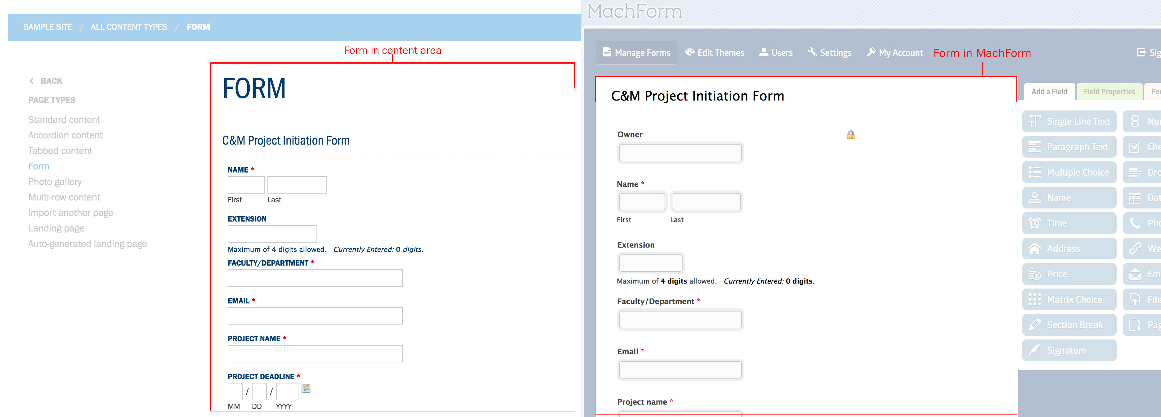 Form preview for CMS and Machform