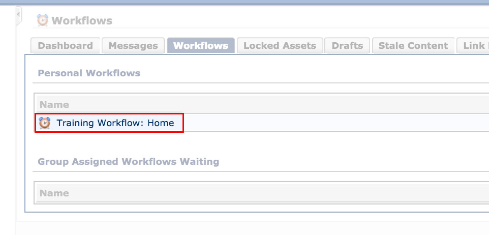 Select the applicable workflow screenshot