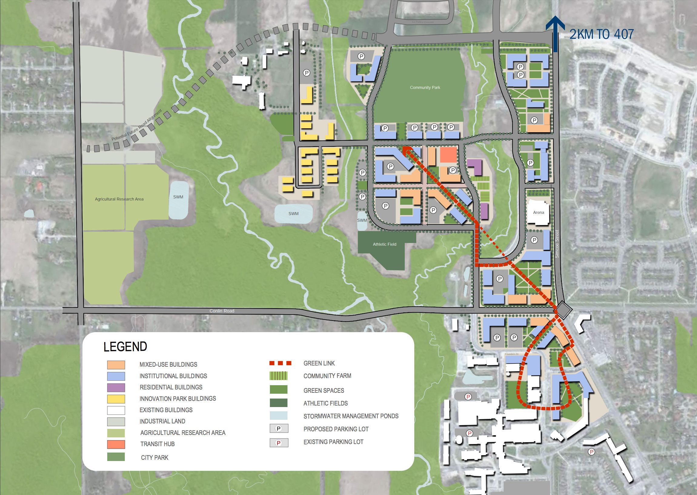 Campus Master Plan map