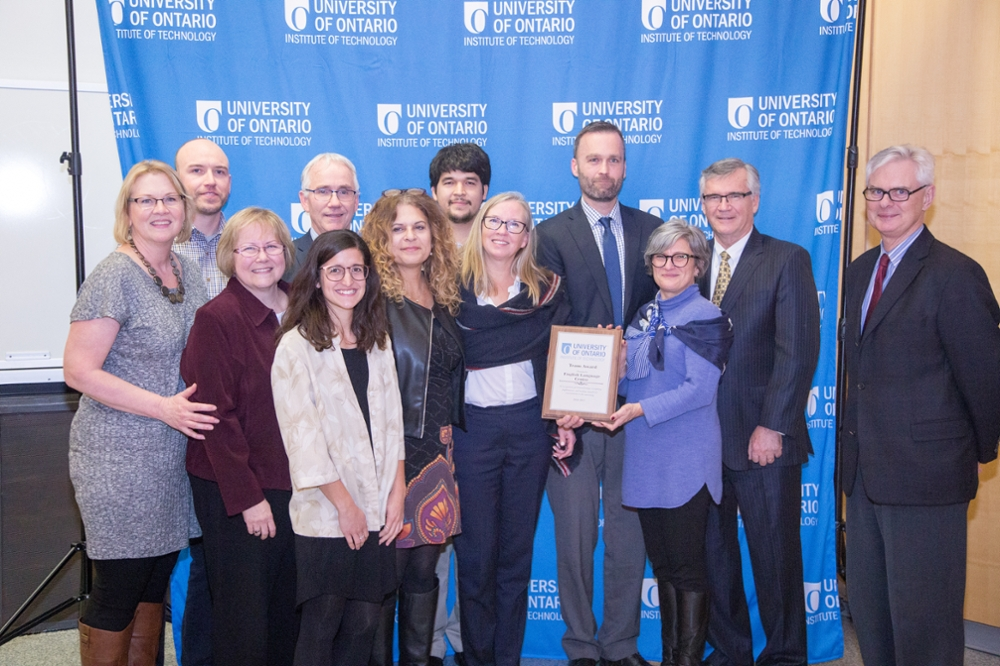 UOIT Team Award 2017 Winner English Language Centre Team