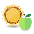 Sun and Apple icon