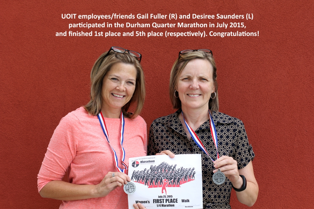 Gail Fuller, Graduate Finance Assistant and Desiree Saunders, Graduate Admissions and Registration Officer, Office of Graduate Studies