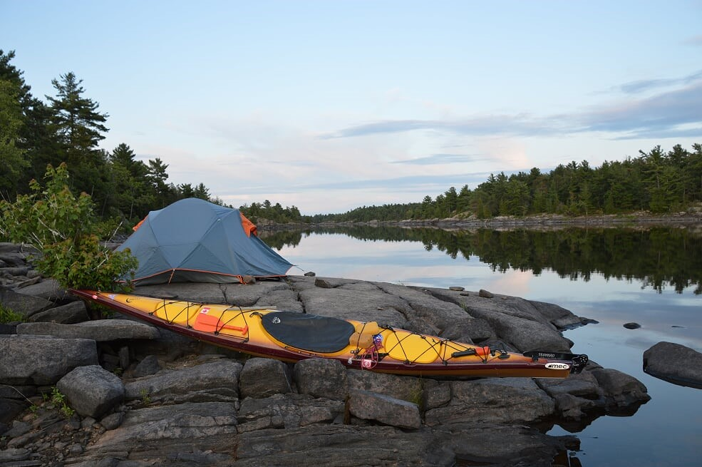 "2nd -""A serene campsite in the French River Provincial Park""– Paradise submitted by Mike Whitmarsh, Faculty of Education"