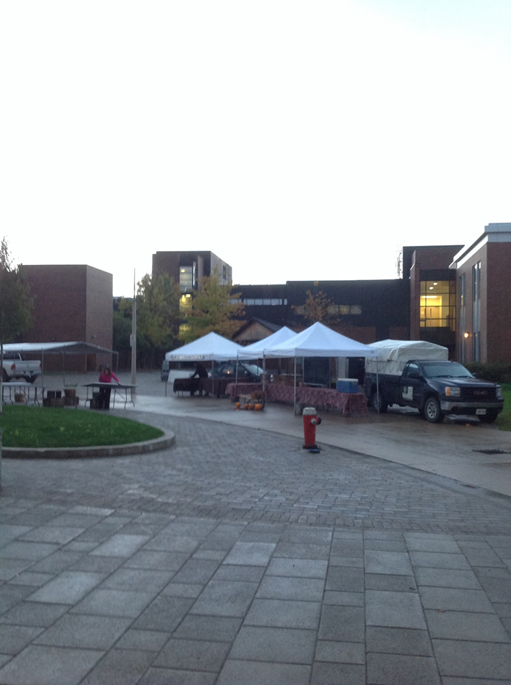Campus Market tents