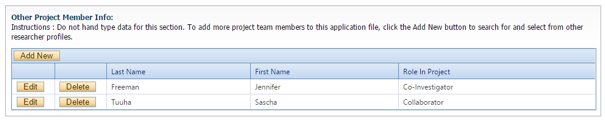 Add Project Team Members