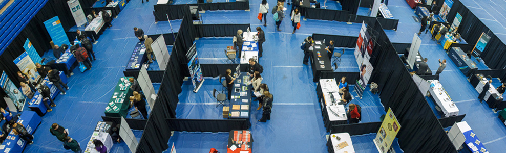 Booths at the Further Education Expo