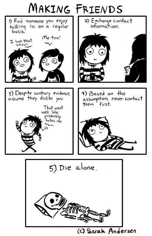 comic strip about introverts making friends