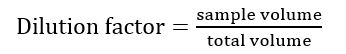 Dilution Factor Equation