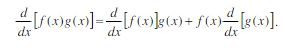 The Product Rule equation
