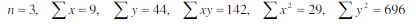 Correlation Coefficient equation