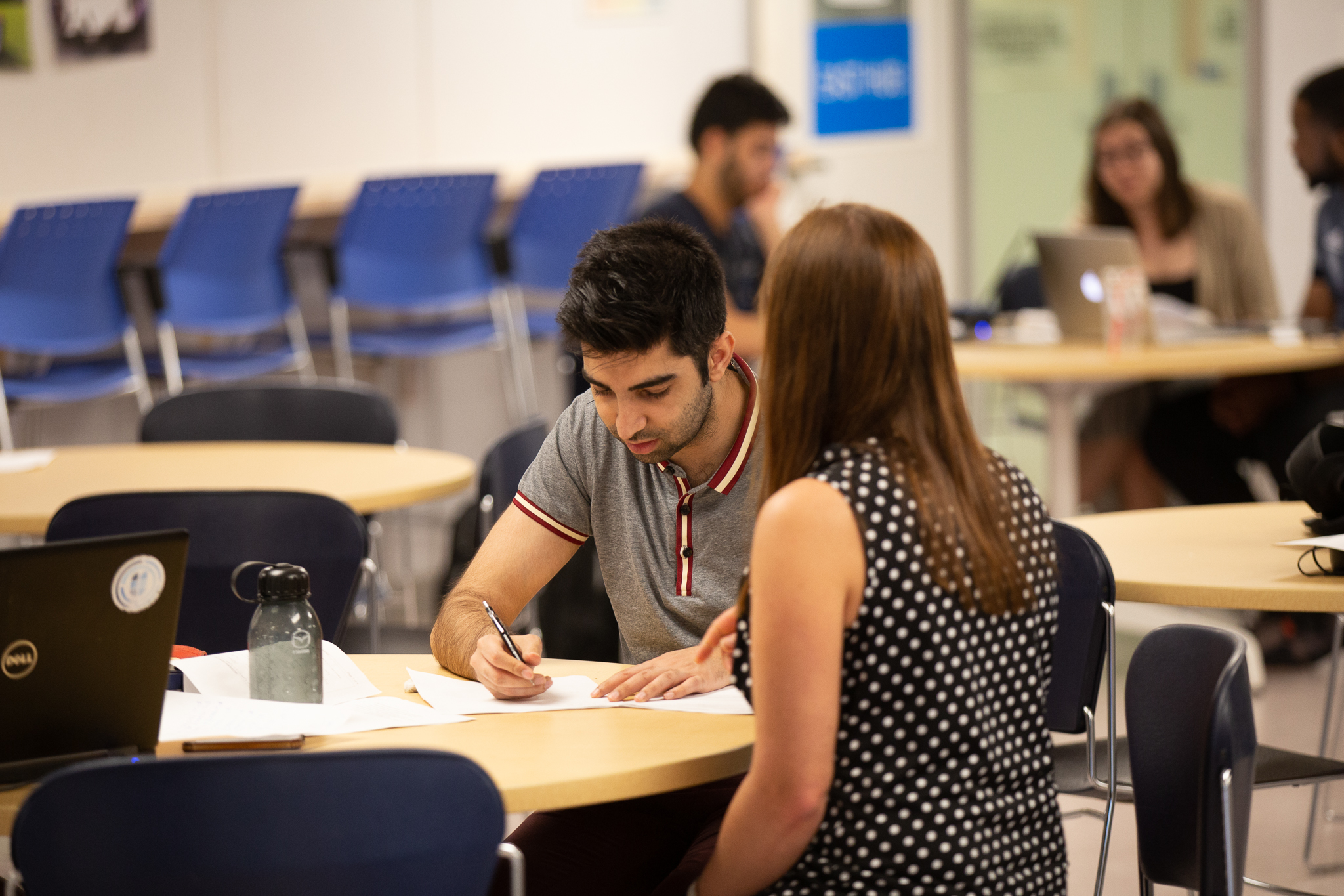 Student receiving one-on-one academic support