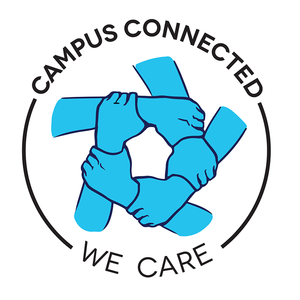 campus connected hands-linked symbol