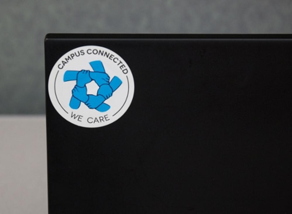 campus connected logo on a laptop
