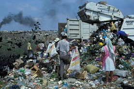 This is an image of a dump site