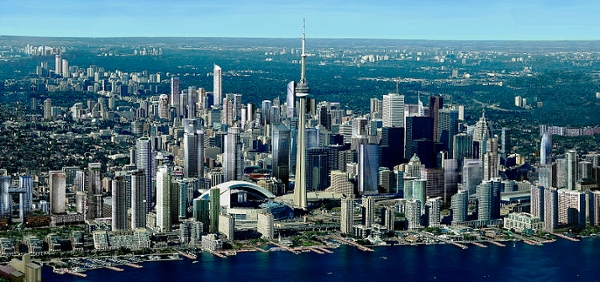 This photo represents the future City of Toronto considering all proposed and approved projects, as well as those currently under construction.