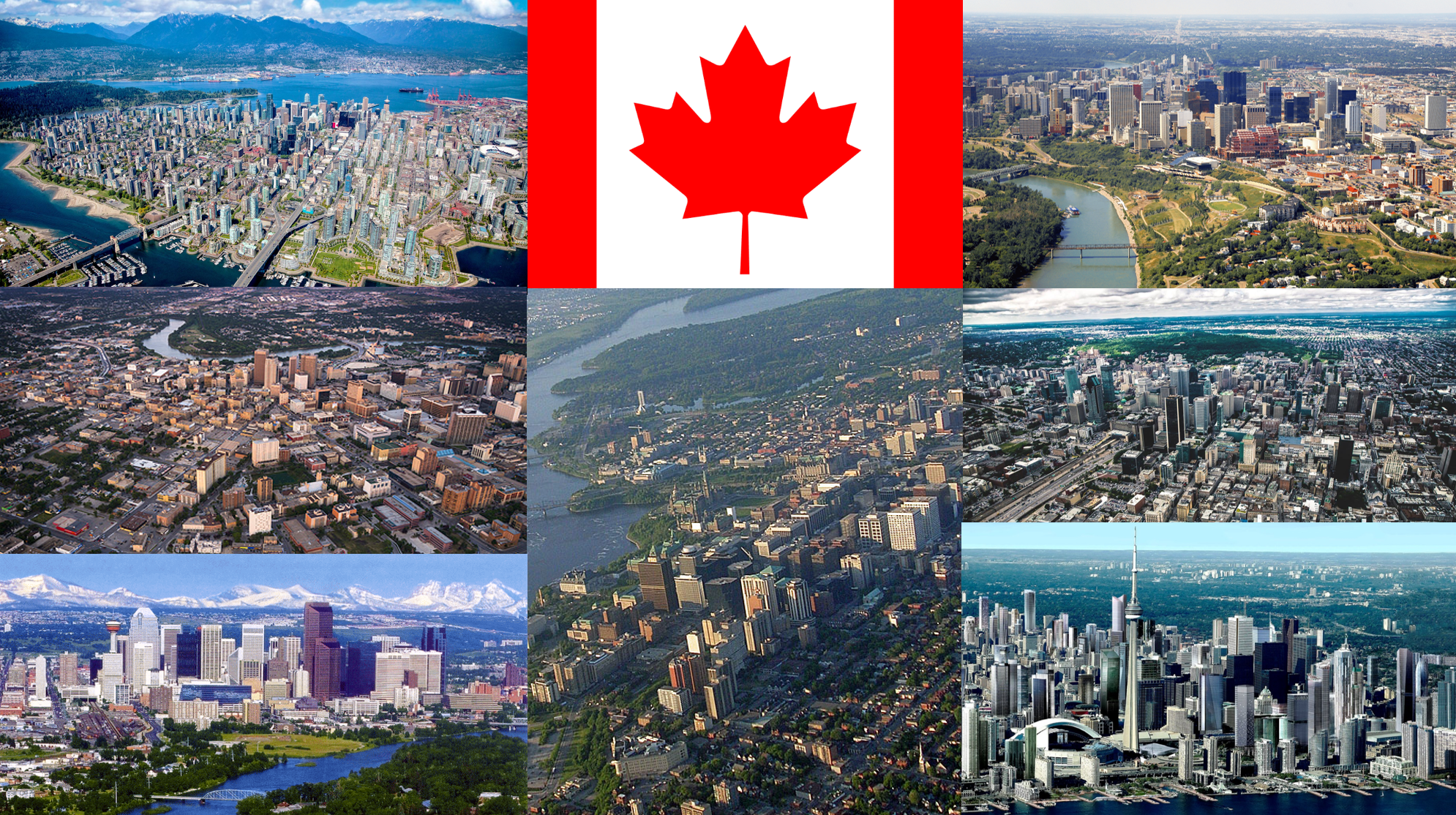Canada's seven largest cities (urban regions) – Calgary, Edmonton, Montréal, Ottawa, Toronto, Vancouver, and Winnipeg – are among the best managed in the world.