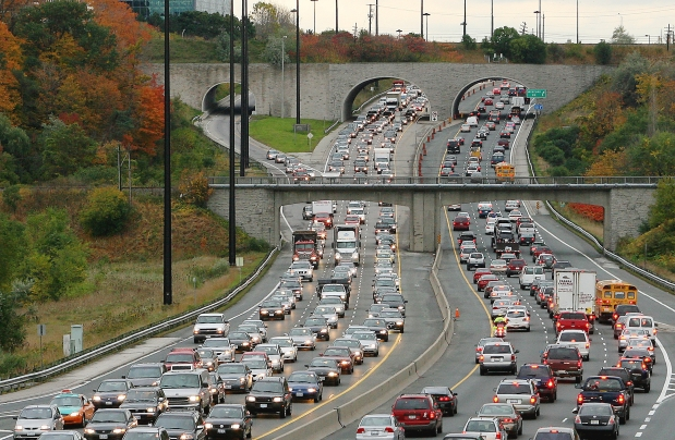 Traffic on the DVP