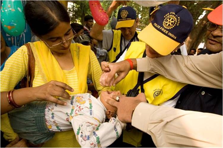 Along with their partners, Rotary International has helped immunize more than 2.5 billion children against polio in 122 countries and reduced polio cases by 99.9 percent worldwide.