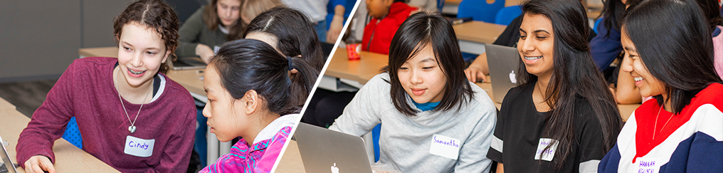 Female students participating in Go Eng Girl and Go Code Girl