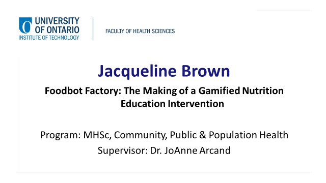 links to video of Jacqueline Brown's presentation
