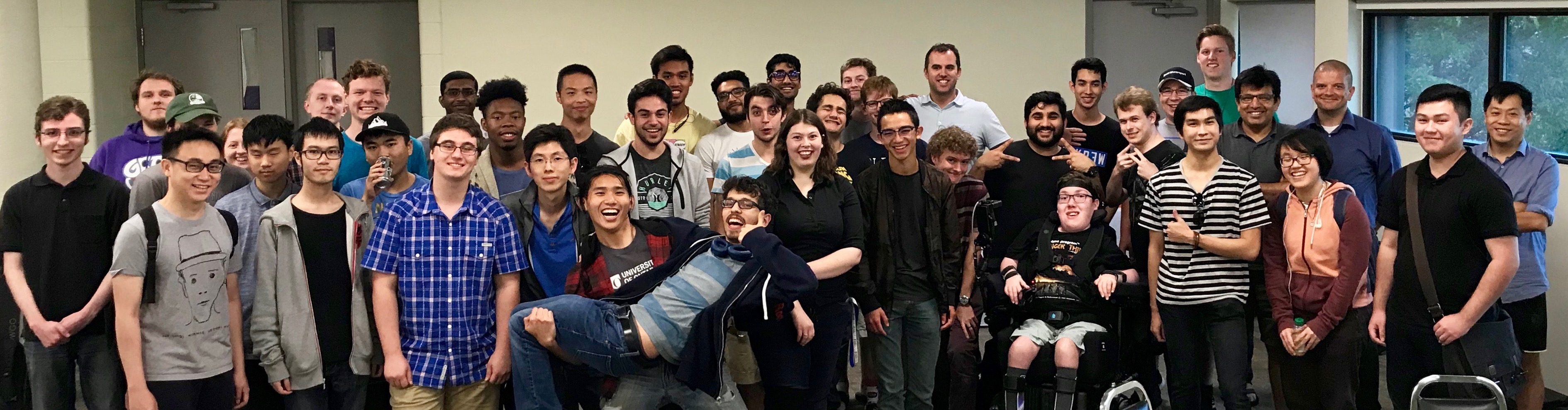 Computer Science students at the 2018 Fall Student Mixer