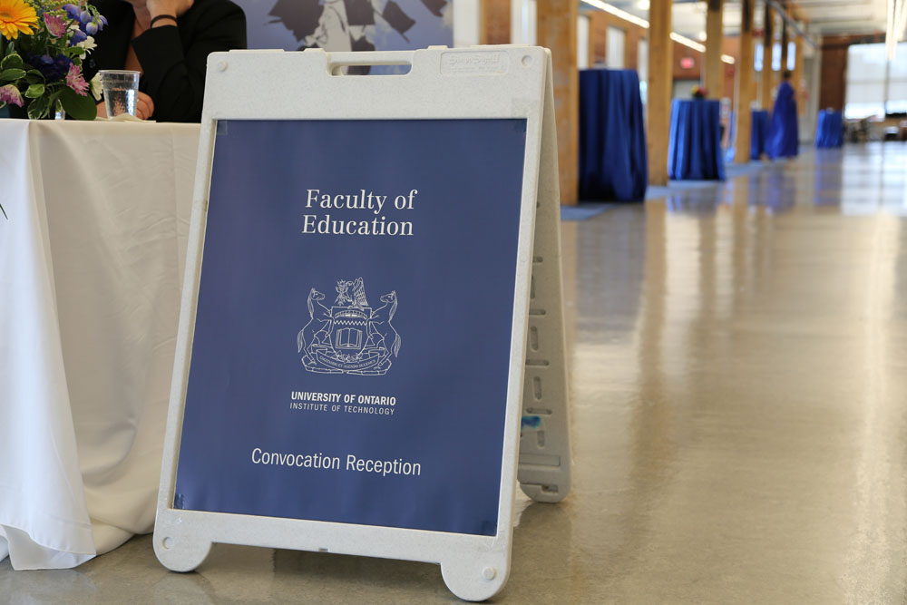 Faculty of Education convocation reception poster