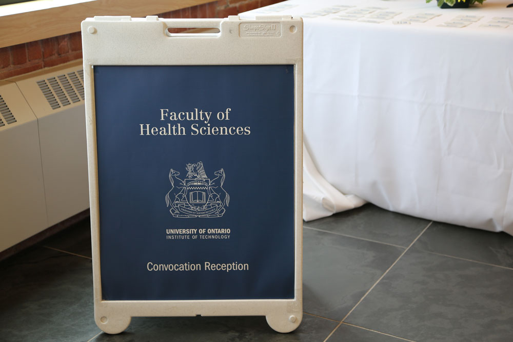 Faculty of Health Science convocation reception poster