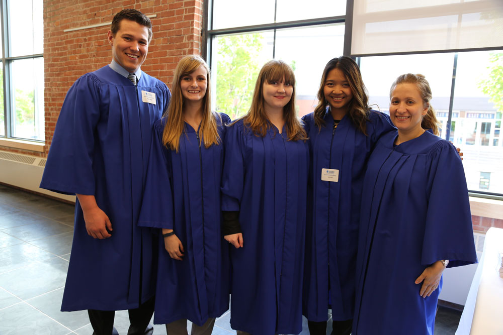 Volunteers at the 2014 convocation reception
