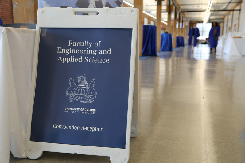Signage at UOIT's 2014 convocation reception