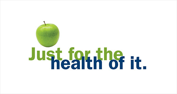 Just for the health of it logo