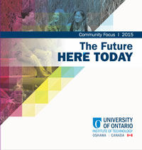 The cover of Community Focus 2015: The Future Here Today